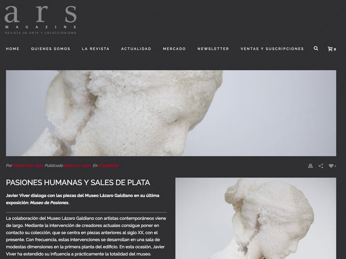 Human passions and silver salts. Ars Magazine