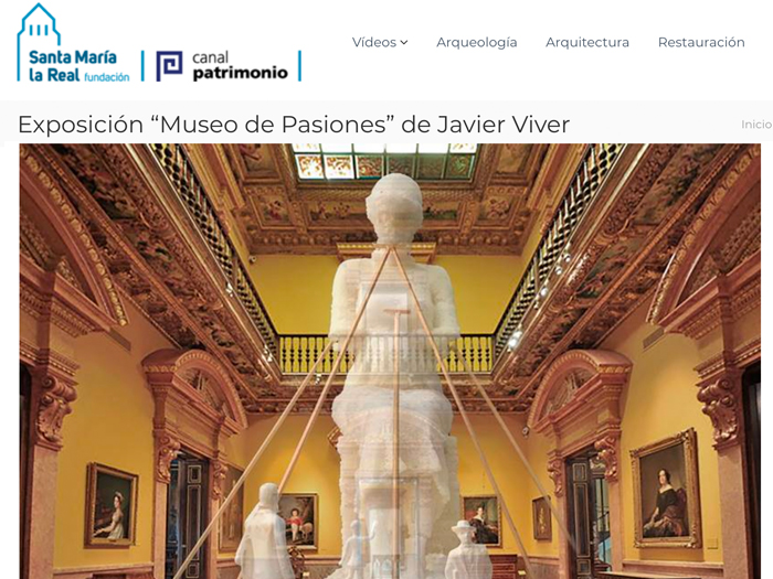 "Exhibition ""Museum of Passions"" by Javier Viver. Canal Patrimonio."