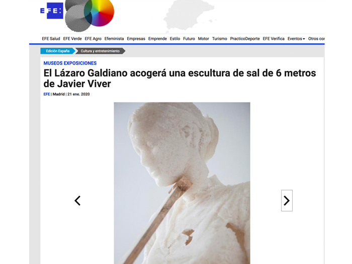 The Lázaro Galdiano will host a 6-metre salt sculpture by Javier Viver. EFE