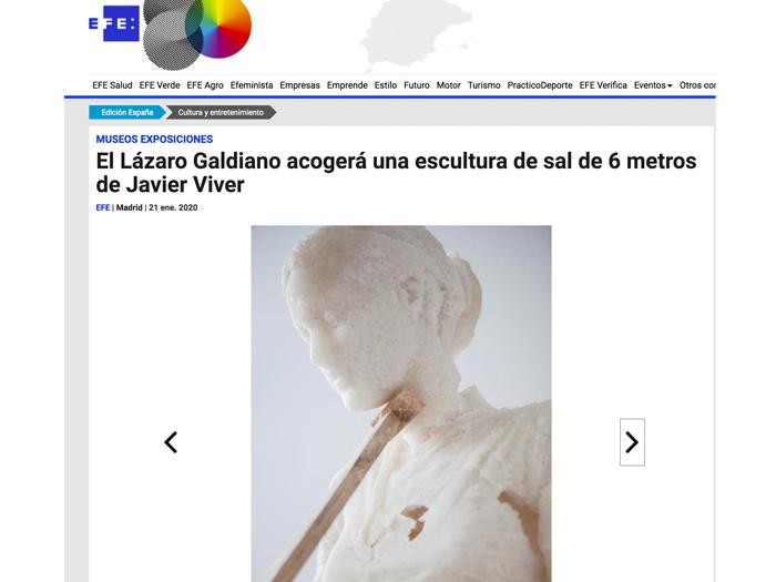 El Lázaro Galdiano acogerá una escultura de sal de 6 metros de Javier Viver. EFE